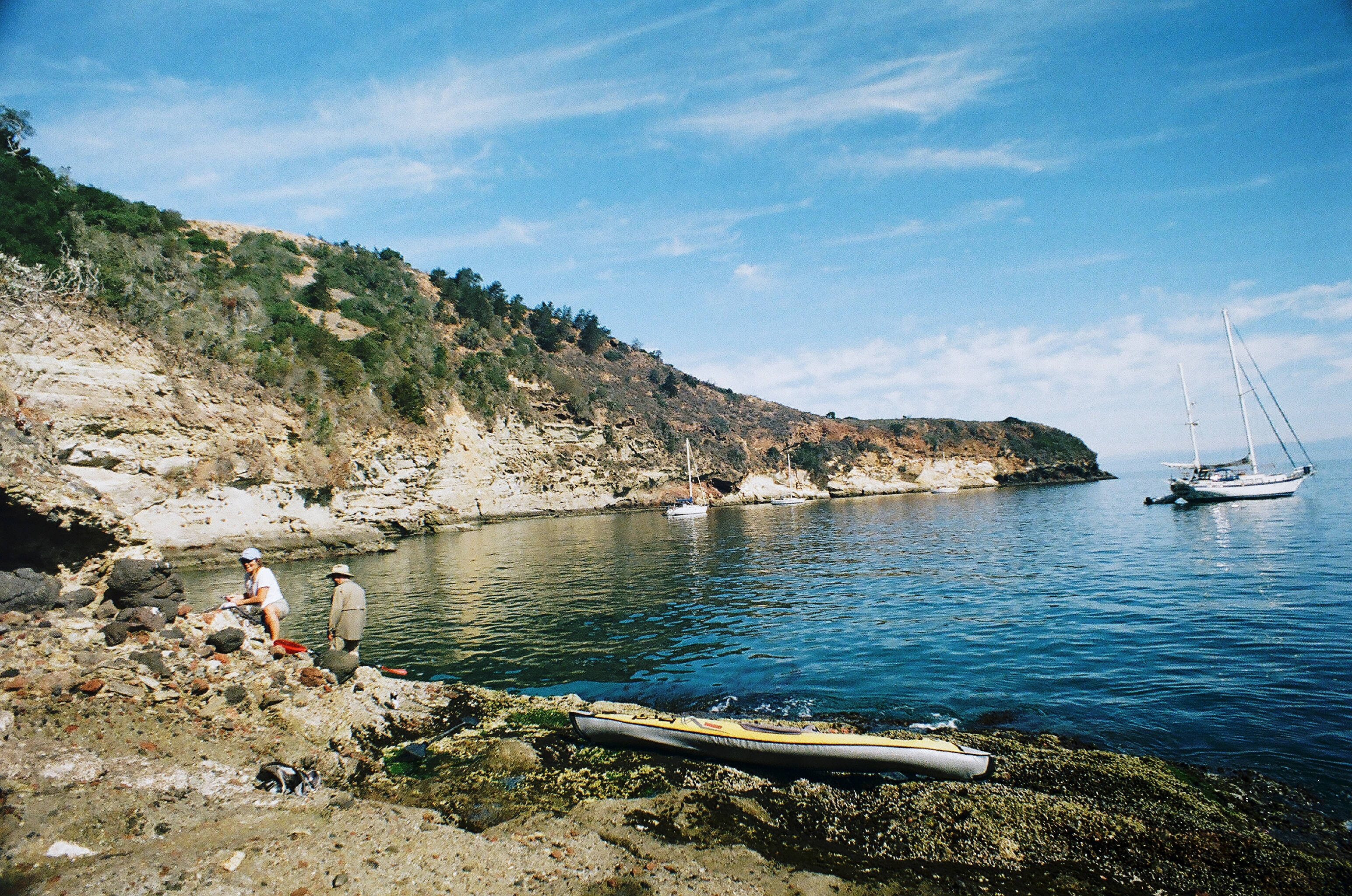 A view of Pelican Bay Anchorage from Santa Cruz Island